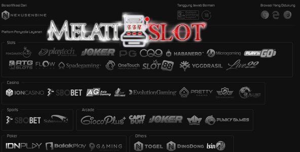 provider permainan yang tersedia pada Melatislot